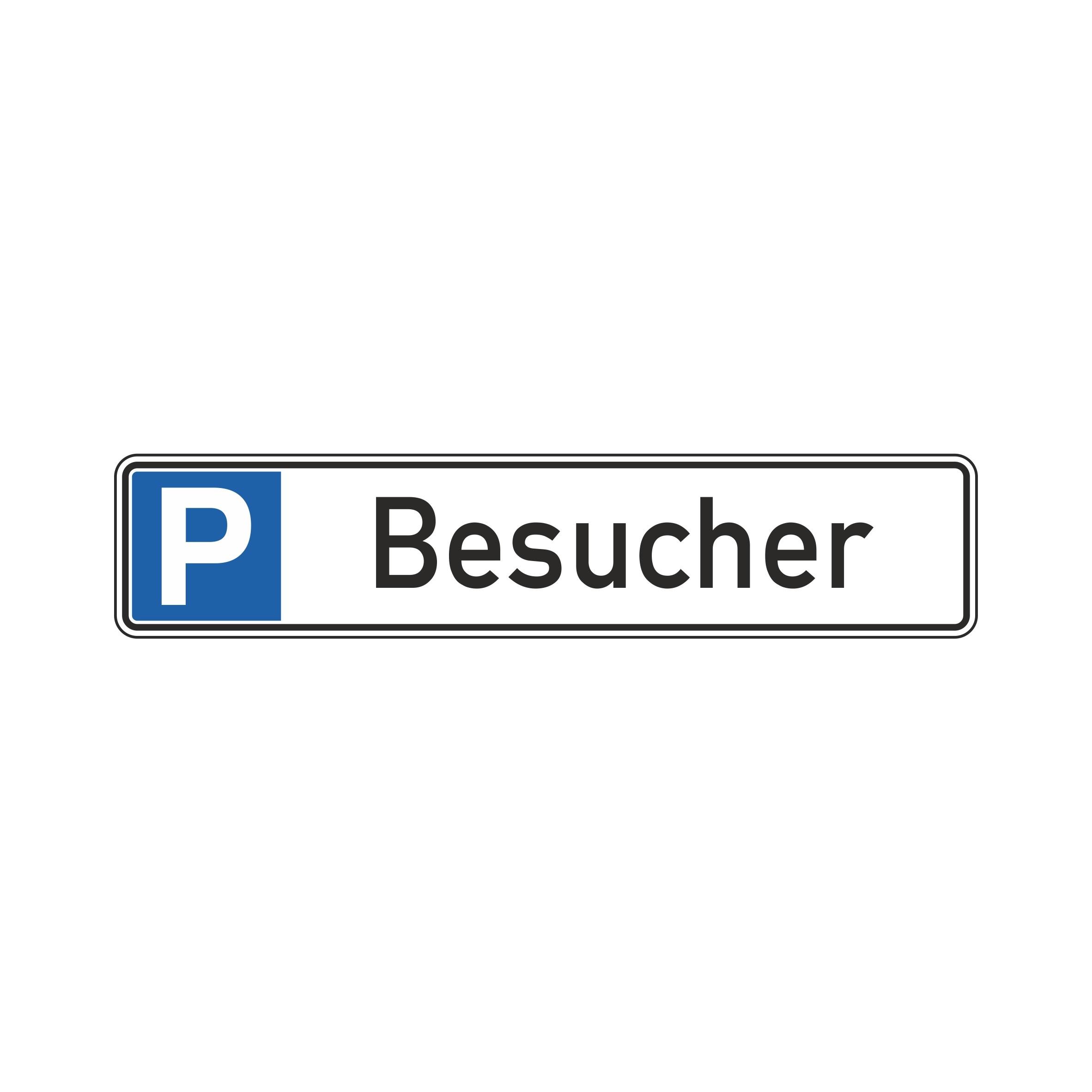 """Parkplatzschild """"Besucher"""" 52x11cm"""