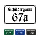 """Hausnummer + Straße """"Schwabacher"""" 25x15cm"""