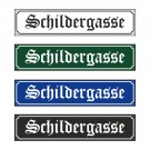 """Straßenschild """"Schwabacher"""" 60x13cm"""