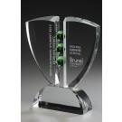 """Kristallglas-Trophäe """"Pinion Award"""""""