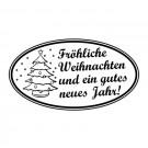 Weihnachtsstempel - 55x30mm
