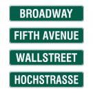"Straßenschild ""New York"" 60x13cm"