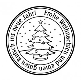 Weihnachtsstempel 40mm Durchmesser